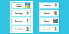 Maori Gods Word Cards