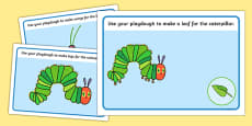 Playdough Mats to Support Teaching on The Very Hungry Caterpillar