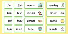 Medial 'n' Word Cards