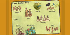 Mayan Civilization Creation Story Word Mat