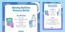 Glowing Bedtime Sensory Bottle