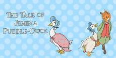 The Tale of Jemima Puddle-Duck Stick Puppets (Beatrix Potter)