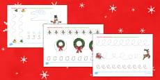 Sărbătoarea Crăciunului - Fișe cu grafisme