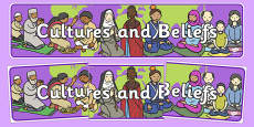 Cultures And Beliefs Display Banner