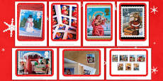 Christmas Postage Stamps Photo Pack