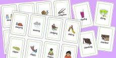Two Syllable SL Sound Flash Cards