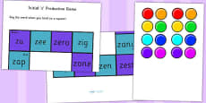 z and Vowel Production Game