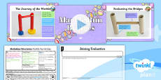 PlanIt - DT UKS2 - Marbulous Structures Lesson 2: Marble Run Bridges Lesson Pack