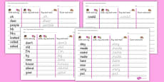Phase 5 High Frequency Words Writing Practice Activity Sheets