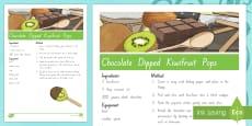 Treaty Treats Chocolate Dipped Kiwifruit Pops Recipe Te Reo Maori / English