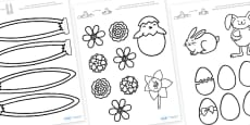 Easter Bonnet Colouring Accessories (Black and White)