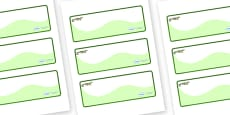 Crocodile Themed Editable Drawer-Peg-Name Labels (Colourful)