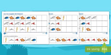 * NEW * Ocean Life Complete the Pattern Differentiated Activity Sheets