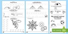Pencil Control and Scissor Skill Resource Pack Arabic/English