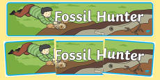 Fossil Hunter Role Play Banner