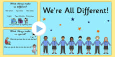 We're All Different PowerPoint