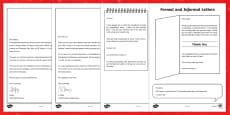 Formal and Informal Christmas Letters Activity Sheets
