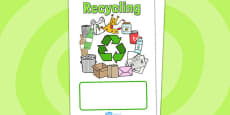 Eco and Recycling Editable Book Covers
