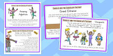 Australia - Challenge Cards to Support Teaching on Charlie and the Chocolate Factory