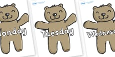 Days of the Week on Teddy Bears