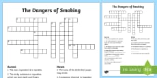 KS2 Dangers Of Smoking Crossword
