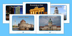 Berlin Tourist Attraction Display Photographs