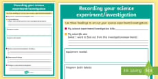 Science Experiment Investigation Lay Out Display Poster
