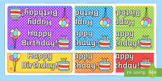 Happy Birthday Foldable Table Sign