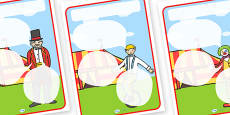 Circus Themed Target Posters Speech Bubbles