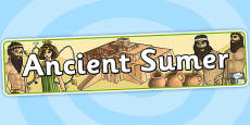 Ancient Sumer Display Banner
