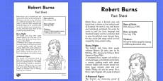 Robert Burns Factfile