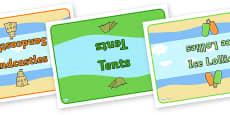 Editable Class Group Table Signs (Summer)