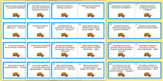 General Conversation Question Double Sided Cards French English Travel and Tourism