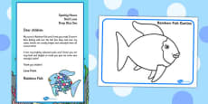Collage Resource Pack to Support Teaching on The Rainbow Fish