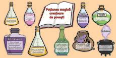 Ingredientele poțiunii magice creatoare de povești - Planșe