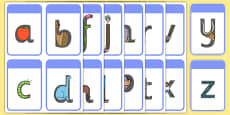 Alphabet Letter Shapes Flashcards