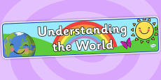 EYFS Learning Areas Understanding the World Display Banner