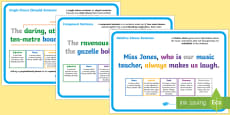 * NEW * UKS2 Features of Sentences Display Posters
