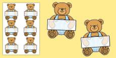 Editable Teddy Bear