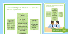 Opinion Phrases Display Poster Spanish Translation