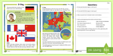 * NEW * KS1 D Day Differentiated Reading Comprehension Activity