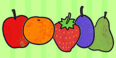 Australia - A4 Fruit Cut Outs to Support Teaching on The Very Hungry Caterpillar