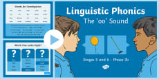 Linguistic Phonics Stage 5 and 6 Phase 3b, 'oo' Sound PowerPoint