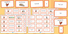 The Little Red Hen Sentence Building Cards
