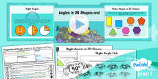 PlanIt Y3 Properties of Shape Lesson Pack Angles in Shapes and Turns