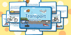 Amazing Transport Display Fact Cards