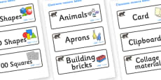 Panther Themed Editable Classroom Resource Labels