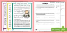 * NEW * Scottish Scientist James Clerk Maxwell Differentiated Reading Comprehension Activity