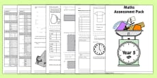 Year 5 Maths Assessment Pack Term 1