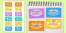 Time Saving Speech Bubble Stickers for Marking